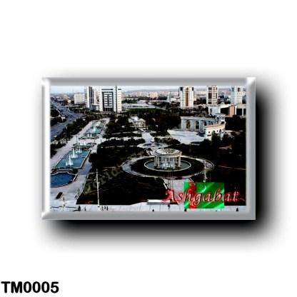 TM0005 Asia - Turkmenistan - Ashgabat - Panorama