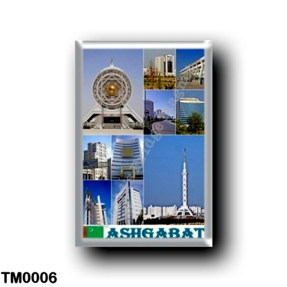 TM0006 Asia - Turkmenistan - Ashgabat - Mosaic