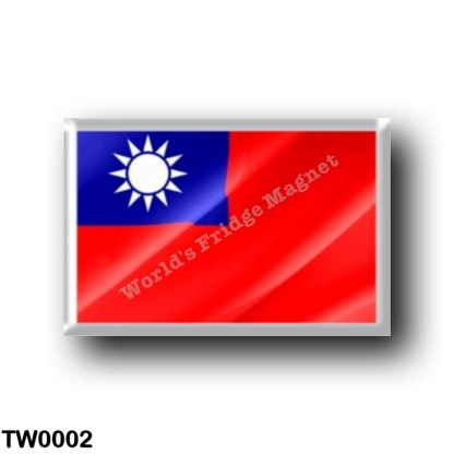 TW0002 Asia - Republic of China - Taiwan - Flag Waving