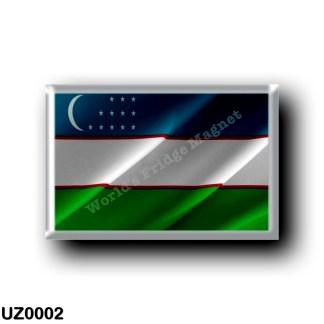 UZ0002 Asia - Uzbekistan - Flag Waving