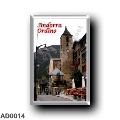 AD0014 Europe - Andorra - Ordfino - Plaça Major