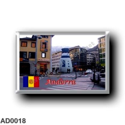 AD0018 Europe - Andorra - Zona comercial de Andorra la Vieja In Christmas