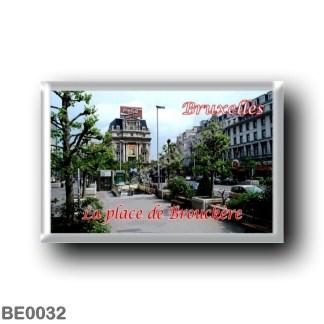 BE0032 Europe - Belgium - Brussels - Bruxelles - La place de Brouckèrei
