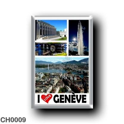 CH0009 Europe - Switzerland - Genève - I Love