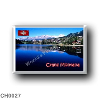 CH0027 Europe - Switzerland - Crans Montana - View of Lake Moubra