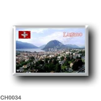 CH0034 Europe - Switzerland - Lugano - Panorama