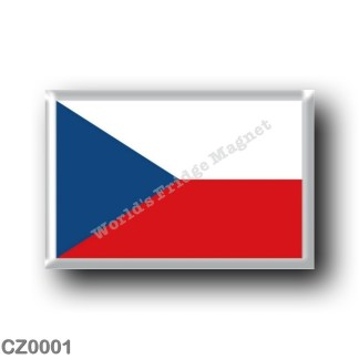 CZ0001 Europe - Czech Republic - Flag