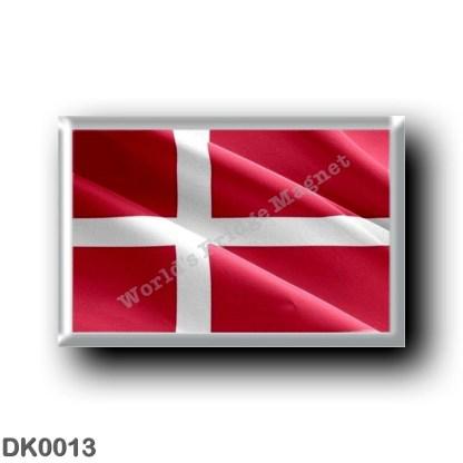 DK0013 Europe - Denmark - Danish flag - waving