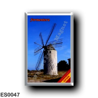 ES0047 Europe - Spain - Balearic Islands - Formentera - windmill