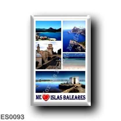 ES0093 Europe - Spain - Balearic Islands - Me encanta Islas Baleares - I Love