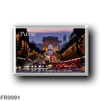 FR0091 Europe - France - Paris - Arc de triomphe de l'Étoile