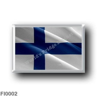 FI0002 Europe - Finland - Finnish flag - waving
