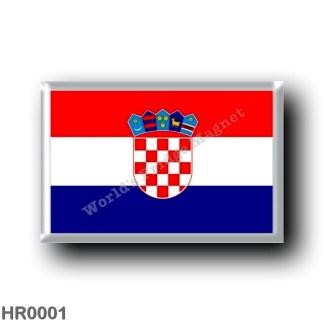 HR0001 Europe - Croatia - Croatian flag