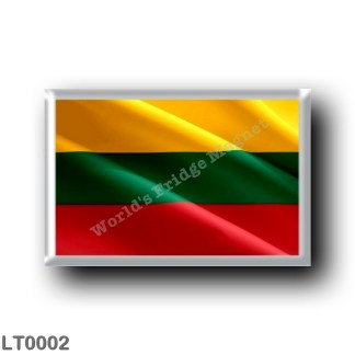 LT0002 Europe - Lithuania - Lithuanian flag - waving