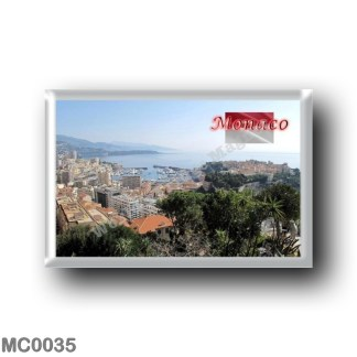 MC0035 Europe - Monaco from the top of the exotic garden