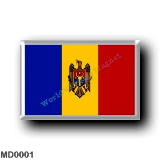 MD0001 Europe - Moldova - Flag