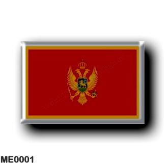 ME0001 Europe - Montenegro - Flag