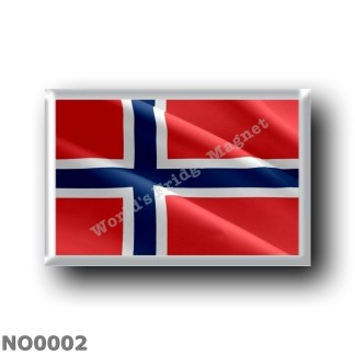 NO0002 Europe - Norway - Flag Waving