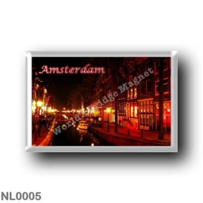 NL0005 Europe - Holland - Amsterdam - Panorama At Night