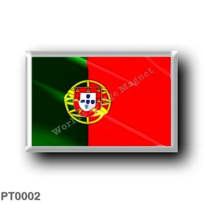 PT0002 Europe - Portugal - Portuguese flag - waving