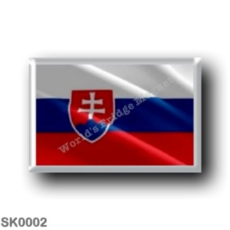 SK0002 Europe - Slovakia - Slovak flag - waving