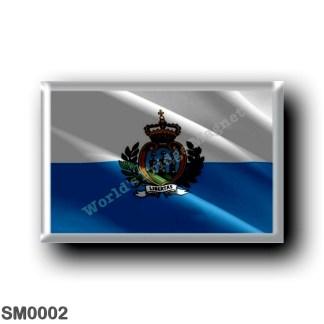 SM0002 Europe - San Marino - Flag Waving