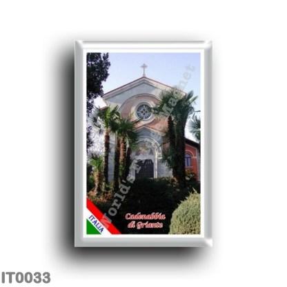 IT0033 Europe - Italy - Lombardy - Lake Como - Cadenabbia di Griante - Church (flag)