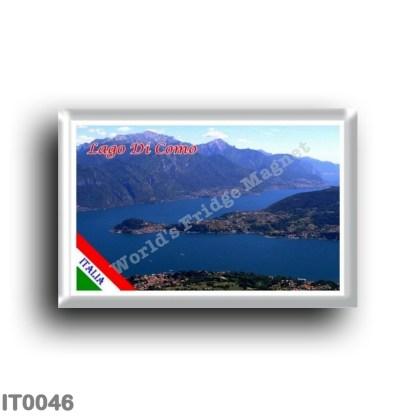 IT0046 Europe - Italy - Lombardy - Lake Como - Lake Como - Panorama (flag)