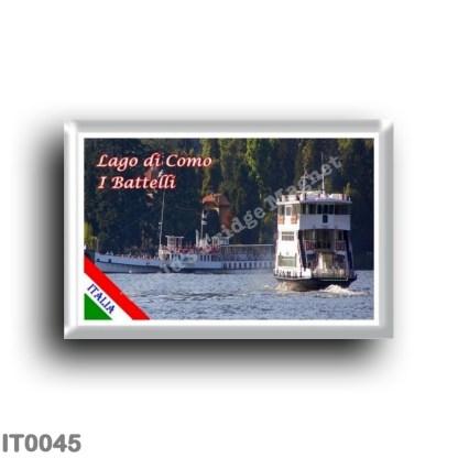 IT0045 Europe - Italy - Lombardy - Lake Como - Lake Como - The Boats (flag)