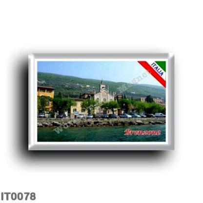 IT0078 Europe - Italy - Lake Garda - Brenzone (flag)...