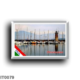 IT0079 Europe - Italy - Lake Garda - Desenzano (flag) - The lighthouse