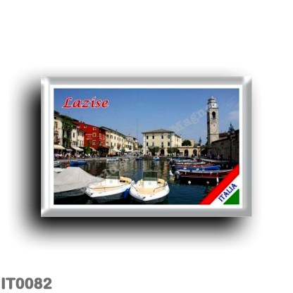 IT0082 Europe - Italy - Lake Garda - Lazise - Porto (flag)