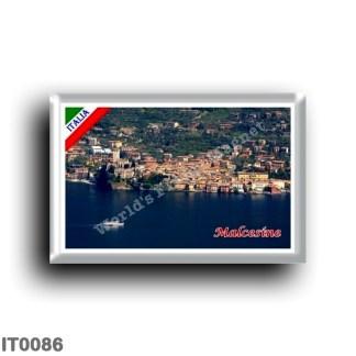 IT0086 Europe - Italy - Lake Garda - Malcesine - Panorama (flag)