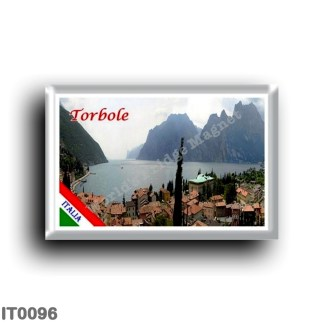 IT0096 Europe - Italy - Lake Garda - Torbole - Panorama (flag)