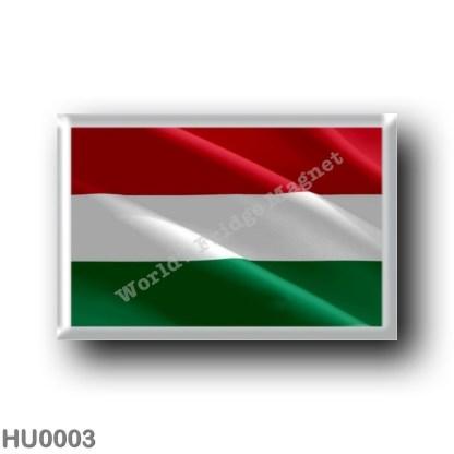 HU0003 Europe - Hungary - Hungarian flag - waving