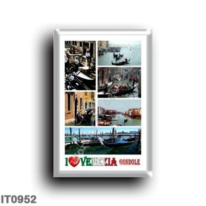 IT0952 Europe - Italy - Venice - Gondolas - I Love