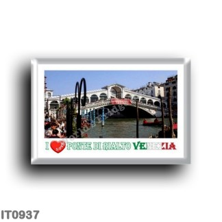 IT0937 Europe - Italy - Venice - Rialto Palace Bridge - I Love