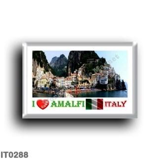IT0288 Europe - Italy - Campania - Amalfi - Panorama - I Love