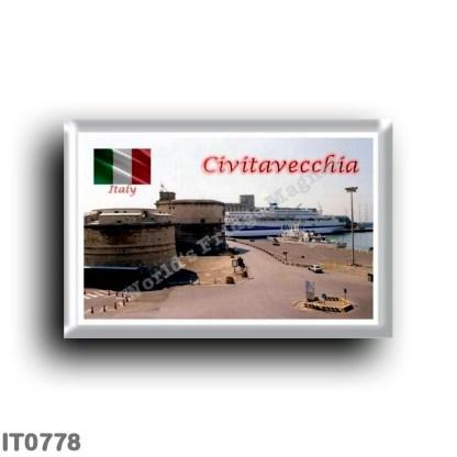 IT0778 Europe - Italy - Lazio - Civitavecchia - The port and the Forte Michelangelo