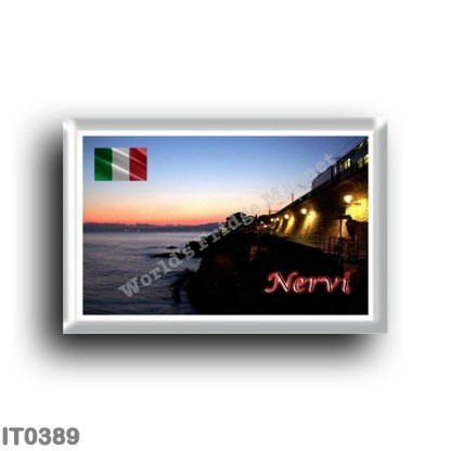 IT0389 Europe - Italy - Liguria - Nervi - Anita Garibaldi Walk by Night