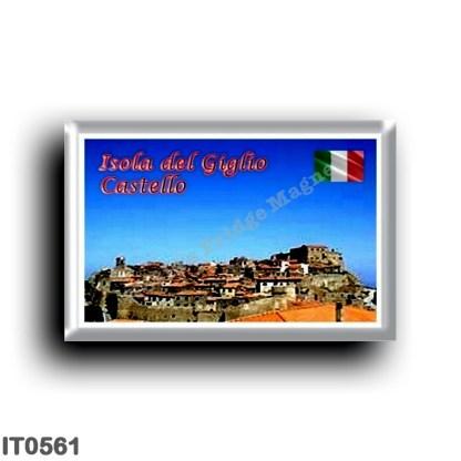 IT0561 Europe - Italy - Tuscany - Giglio island - Panorama - Castle
