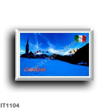IT1104 Europe - Italy - Trentino Alto Adige - Canazei Winter panorama