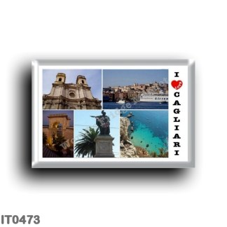 IT0473 Europe - Italy - Sardinia - Cagliari - I Love