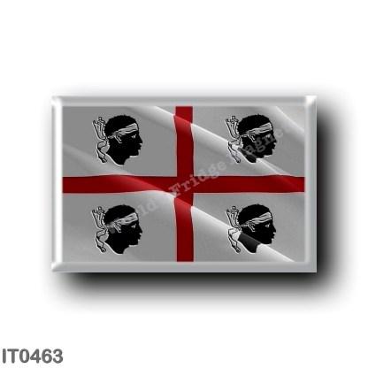 IT0463 Europe - Italy - Sardinia - Flag waving