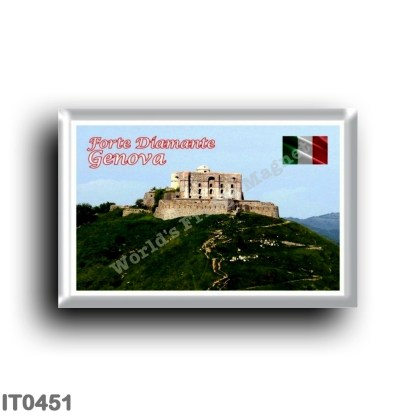 IT0451 Europe - Italy - Liguria - Genoa - Forte Diamante with the mule track