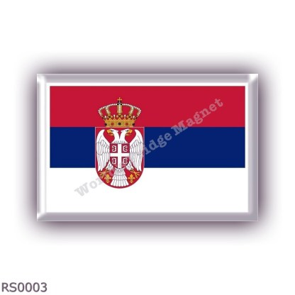 RS0003 Europe - Serbia - flag