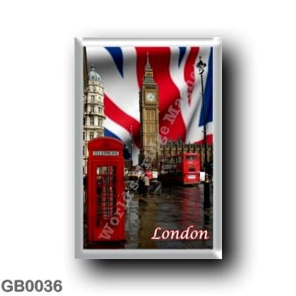GB0036 Europe - England - London - Big Ben - double-decker bus Red telephone box