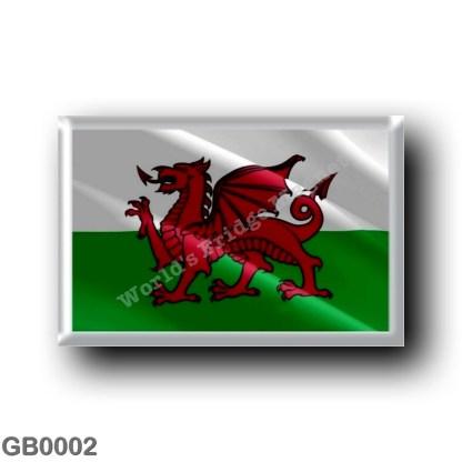 GB0002 Europe - Wales - Flag Waving