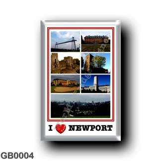 GB0004 Europe - Wales - Newport - I Love