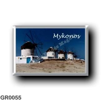 GR0055 Europe - Greece - Mykonos - Windmills